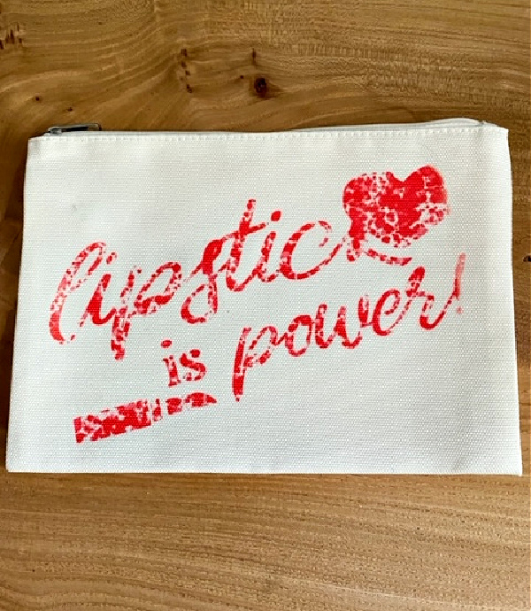 lipstick is power makeup bag