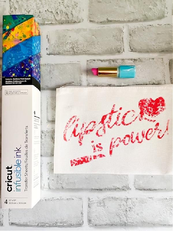 cricut infusible ink cosmetic bag