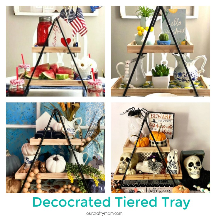 decocrated tiered tray