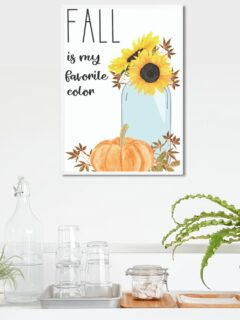 sunflower in mason jar fall mock up