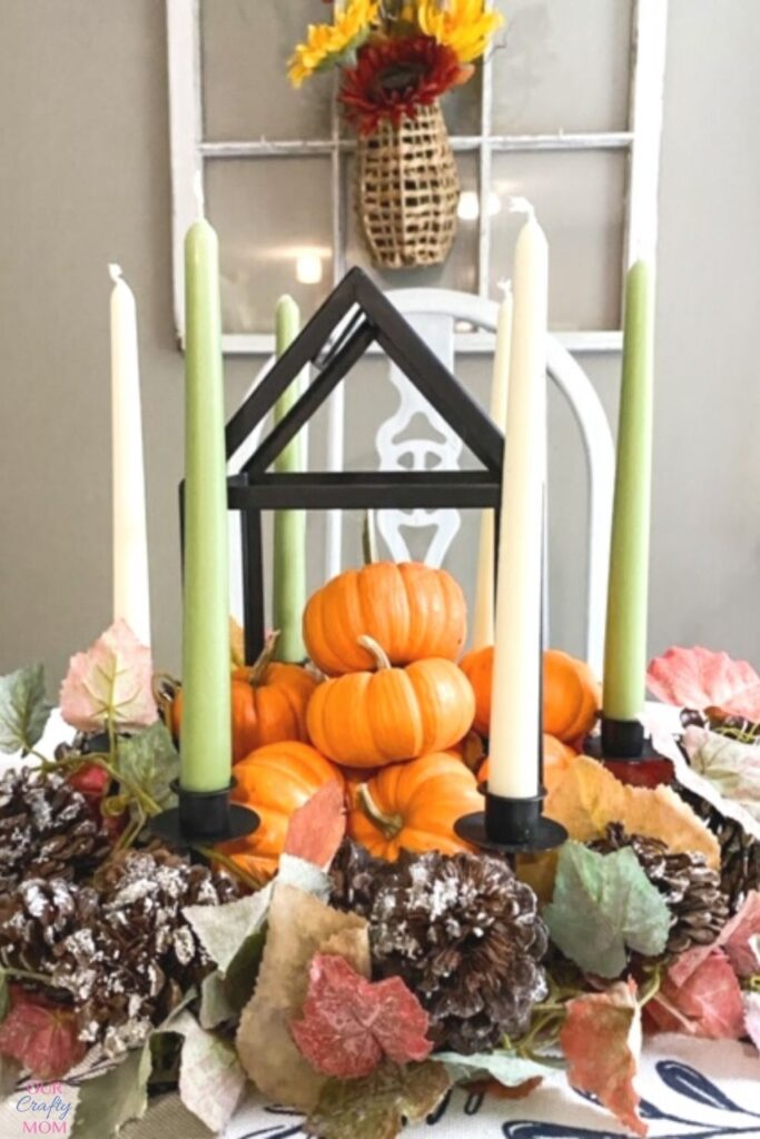 fall candle holder decocrated