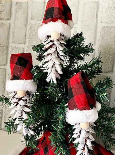 Christmas tree gnome pine cones