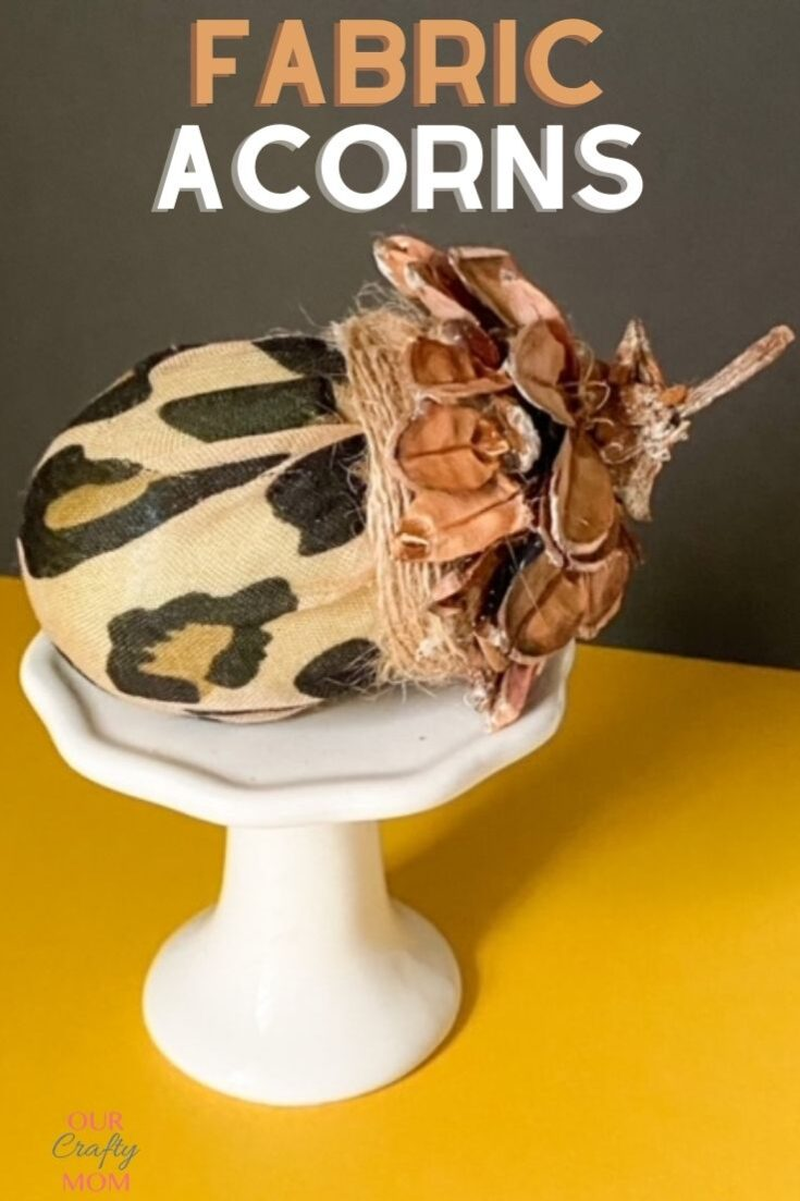fabric acorns with leopard