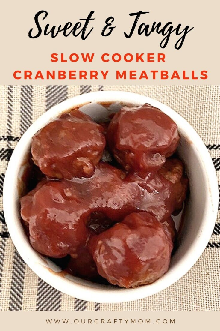 cranberry turkey meatballs in the slow cooker