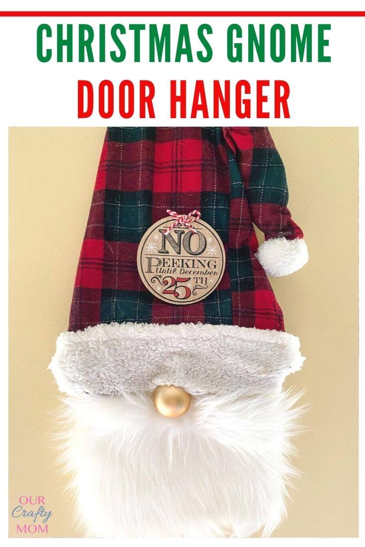 Christmas Gnome Door Hanger DIY