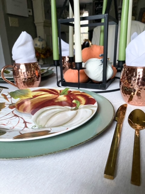 tablescape for Thanksgiving