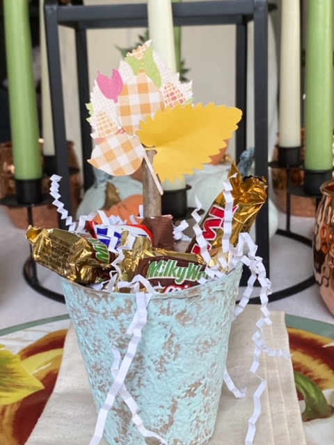 close up of Thanksgiving favors