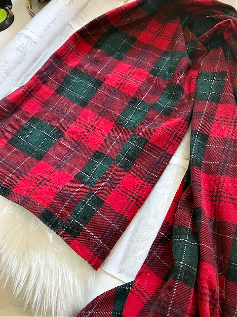 flannel pajama pants for gnome hat
