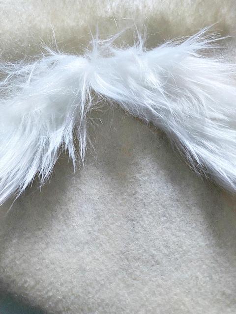 white fur mustache