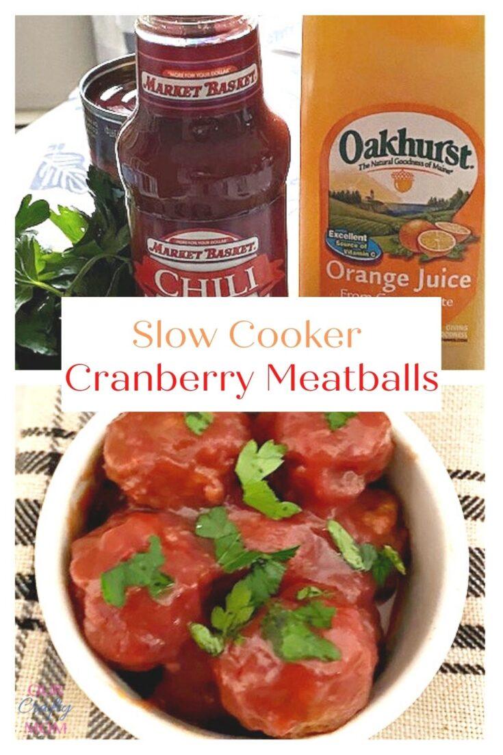 slow cooker turkey cranberry meatballs