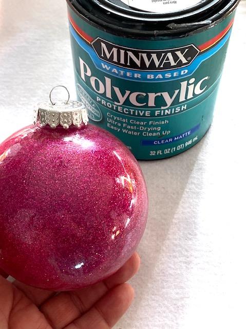 ornament covered in glitter