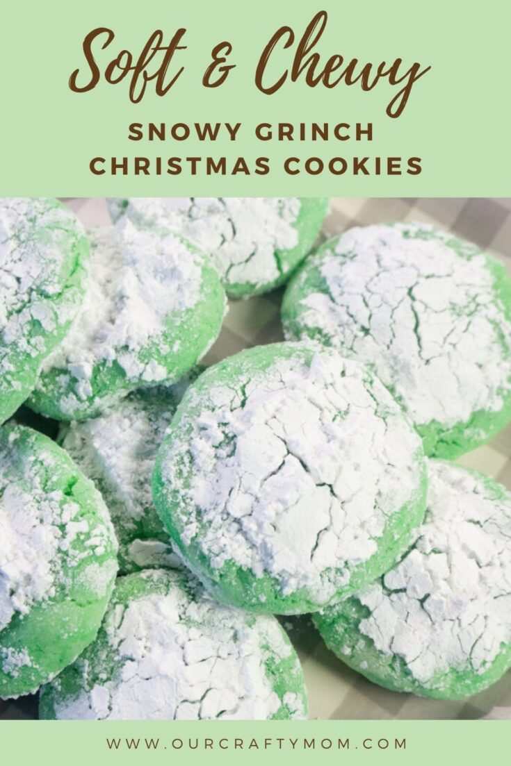 snowy grinch Christmas cookies