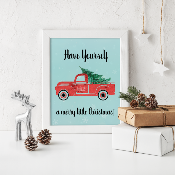 Have Yourself a Merry Little Christmas Mock up Frame