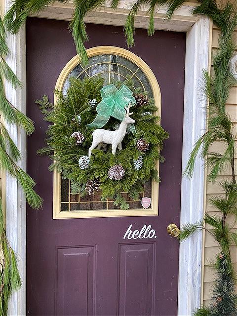 fresh pine around door