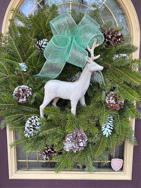Christmas wreath with deer
