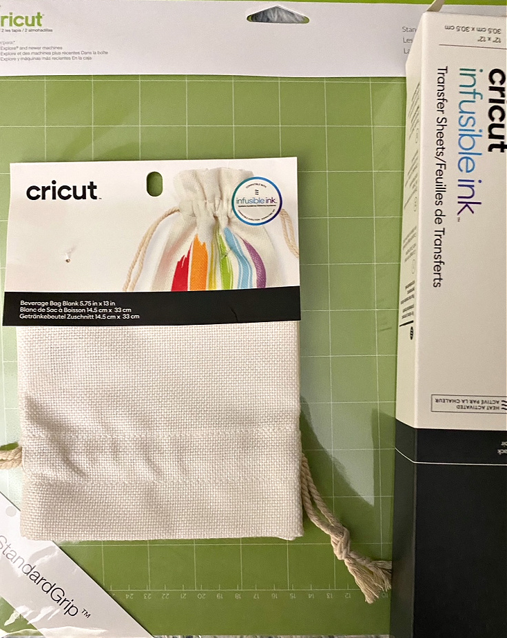 cricut wine gift bag supplies