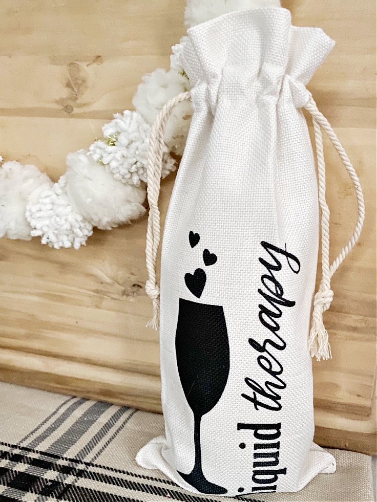 diy wine gift bag