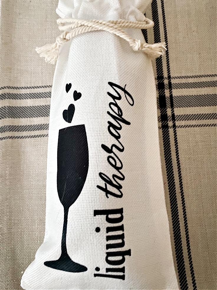 liquid therapy wine gift bag