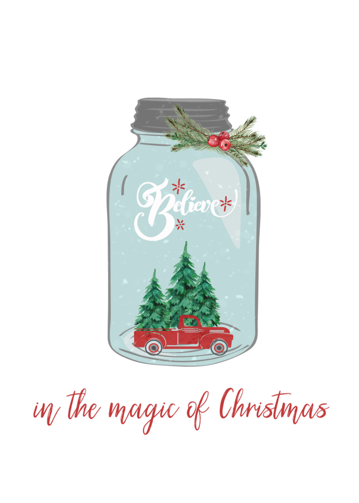 Magic of Christmas 5x7 printable