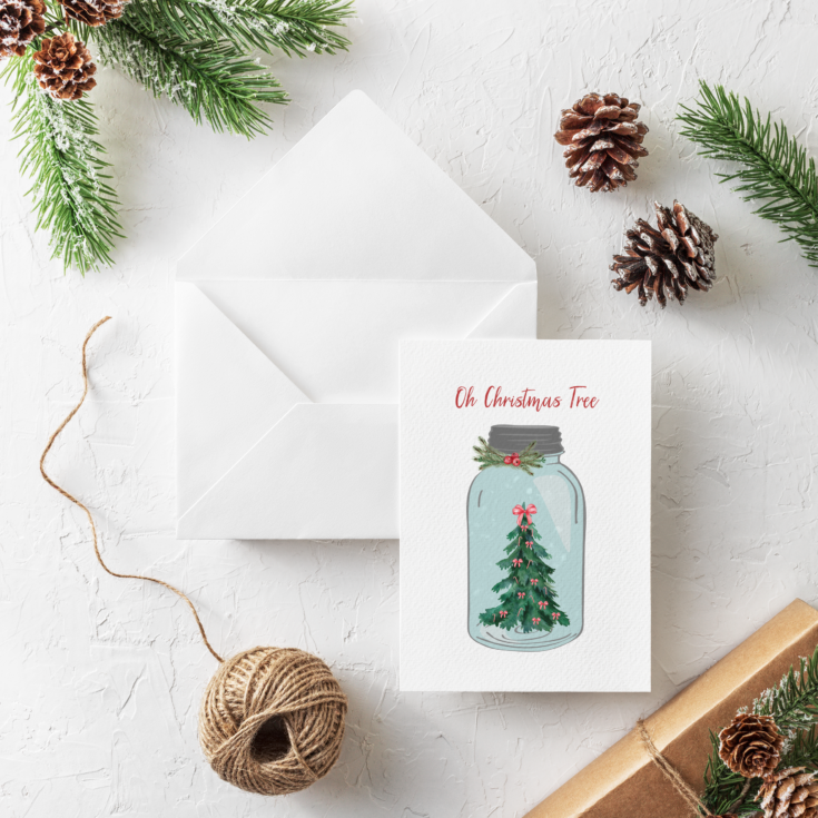 Oh Christmas Tree Card Mock up