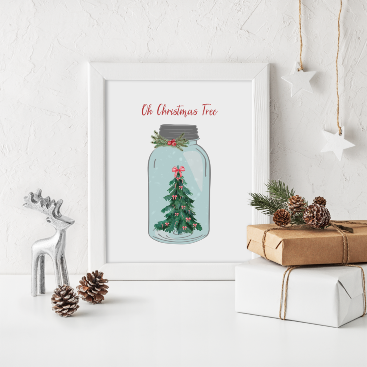 Oh Christmas Tree Mock up Frame