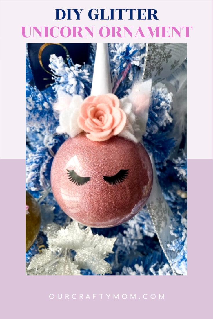 DIY Glitter Unicorn Ornament