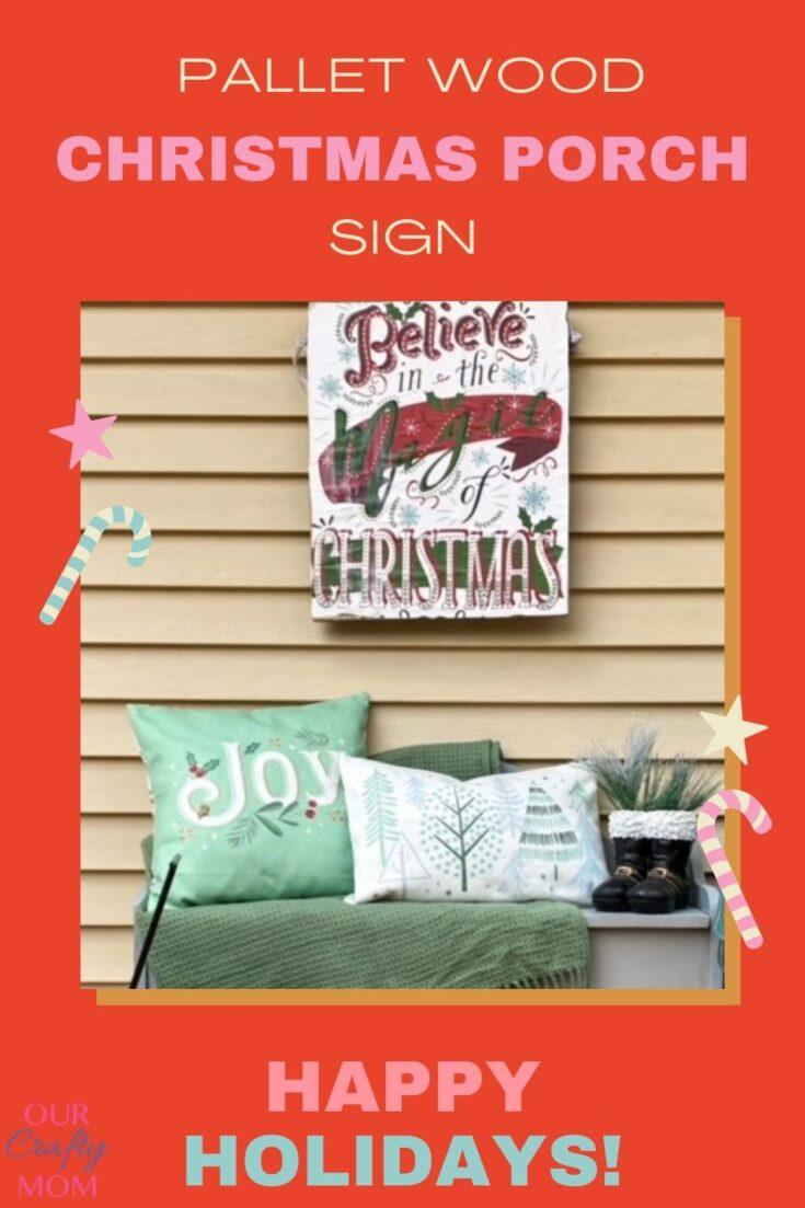 christmas porch sign