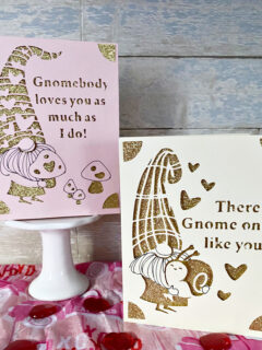 diy gnome valentine's day cards with cricut joy
