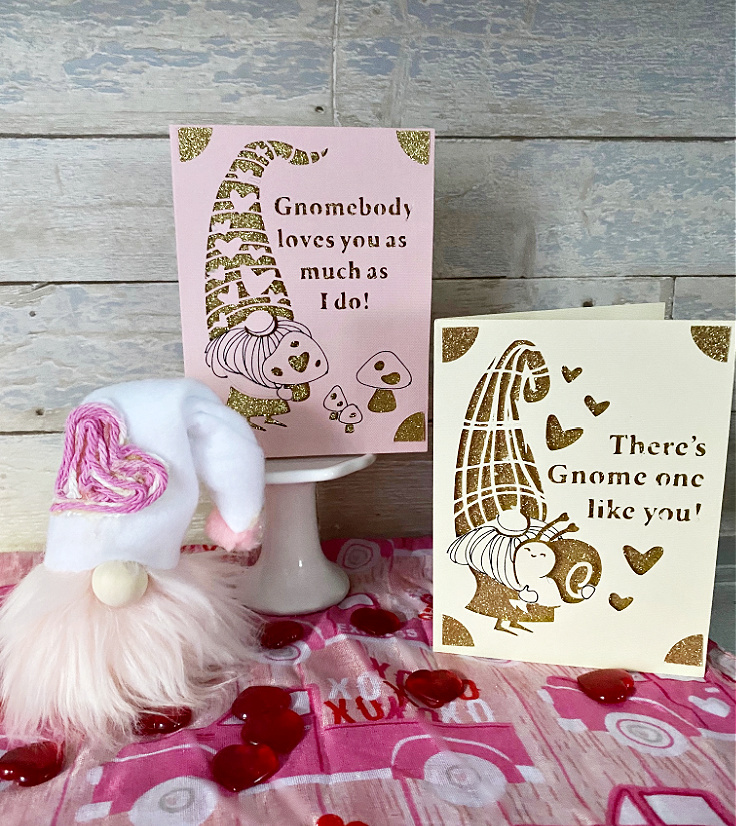 cricut joy gnome cards for valentine's day