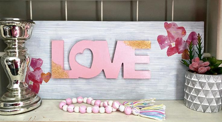 love valentine's day sign dollar tree