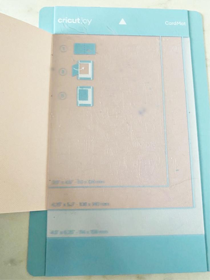 cricut joy card mat with card