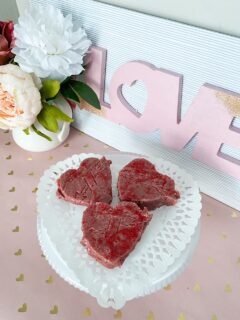 Heart-Shaped Red Velvet Cake Batter Fudge