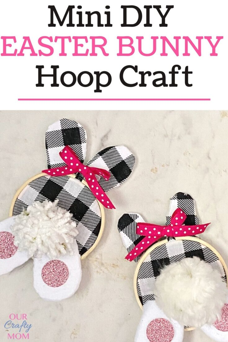 Mini Embroidery Hoop DIY Bunny Wreath