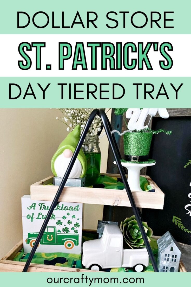 pin image for st. patricks day tiered tray