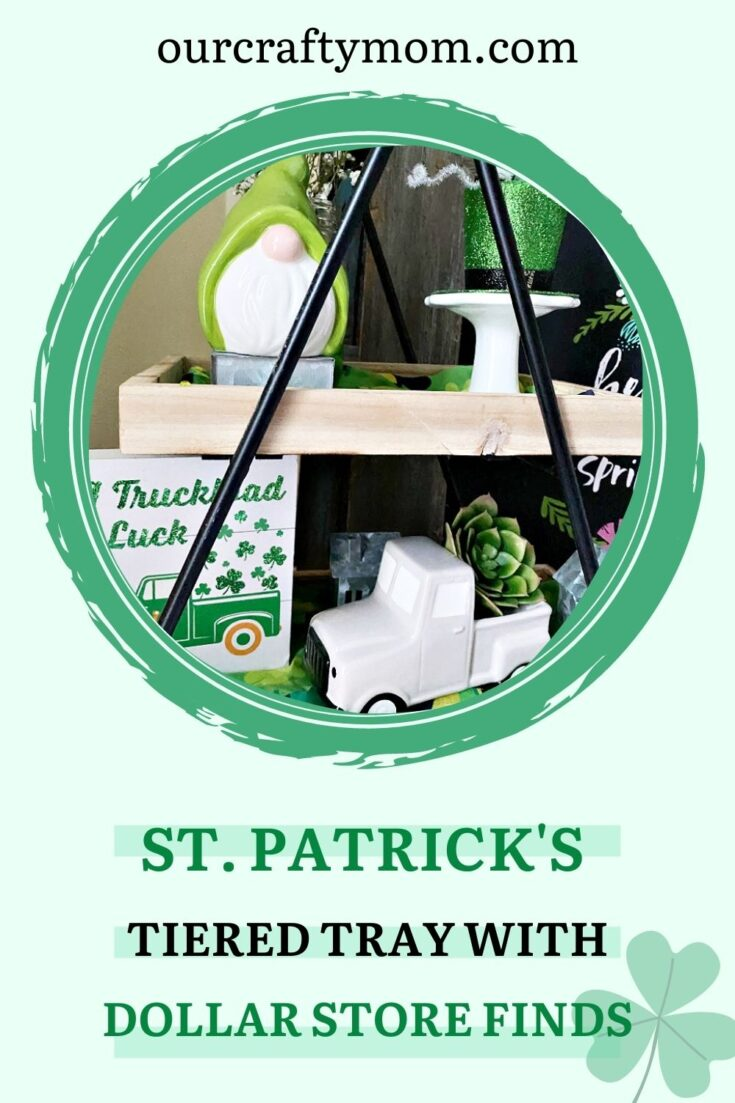 decorate a tiered tray for st. patrick's day