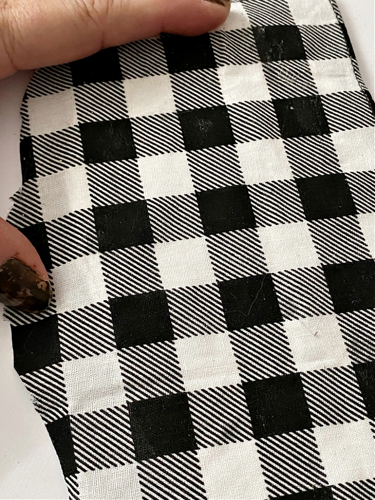 buffalo check fabric on bunny ear
