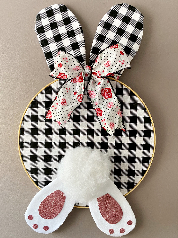 bunny hoop wall decor