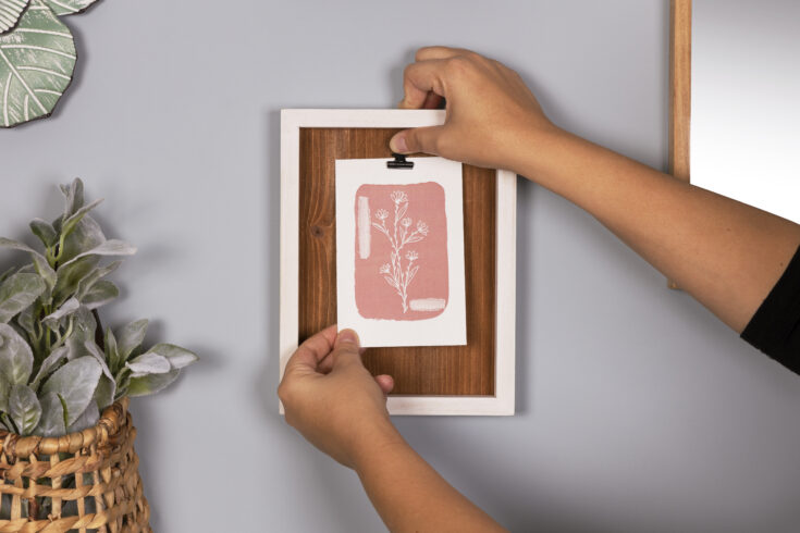 art print in decocrated box