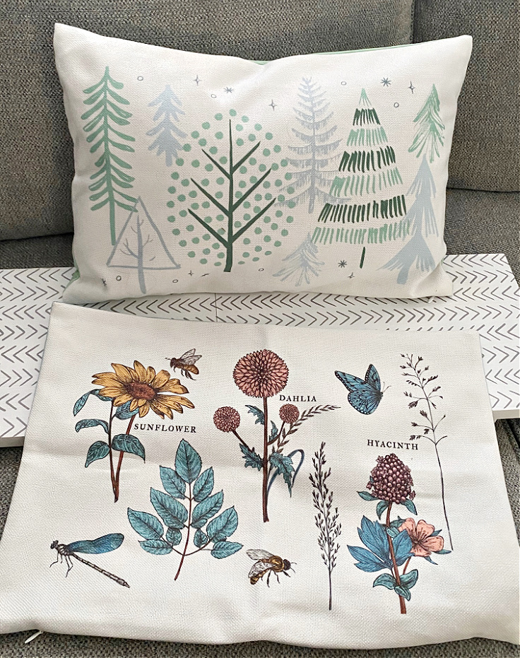 decocrated pillows