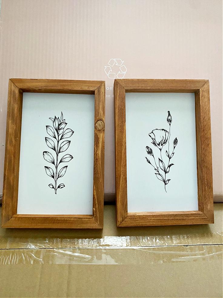 set of 2 botanical prints