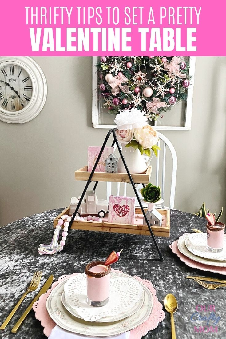 simple tips for decorating a pretty Valentine's Day tablescape