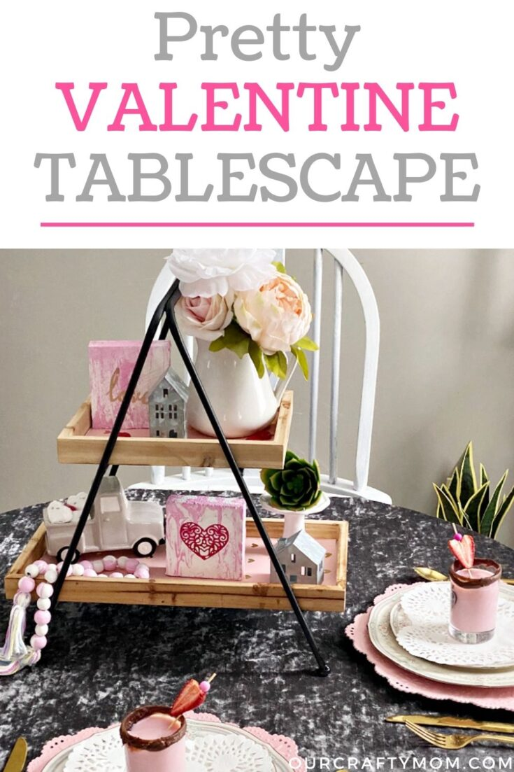 thrifty tips for decorating a pretty table for Valentine's Day