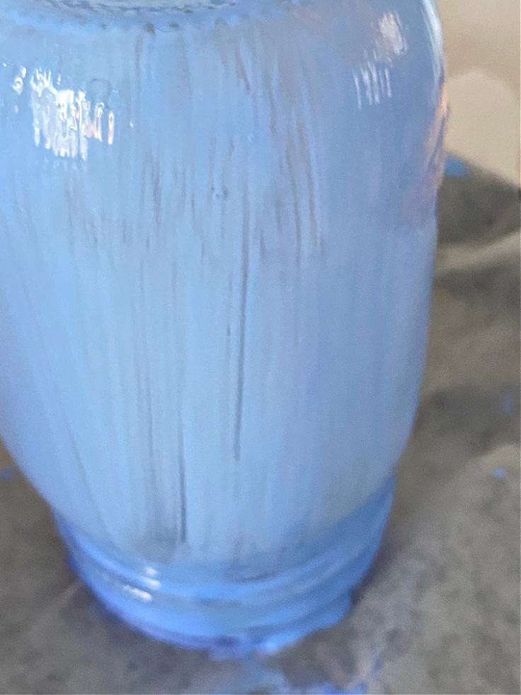tinted mason jars drying