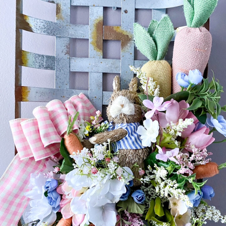 full view of tobacco basket spring wreath