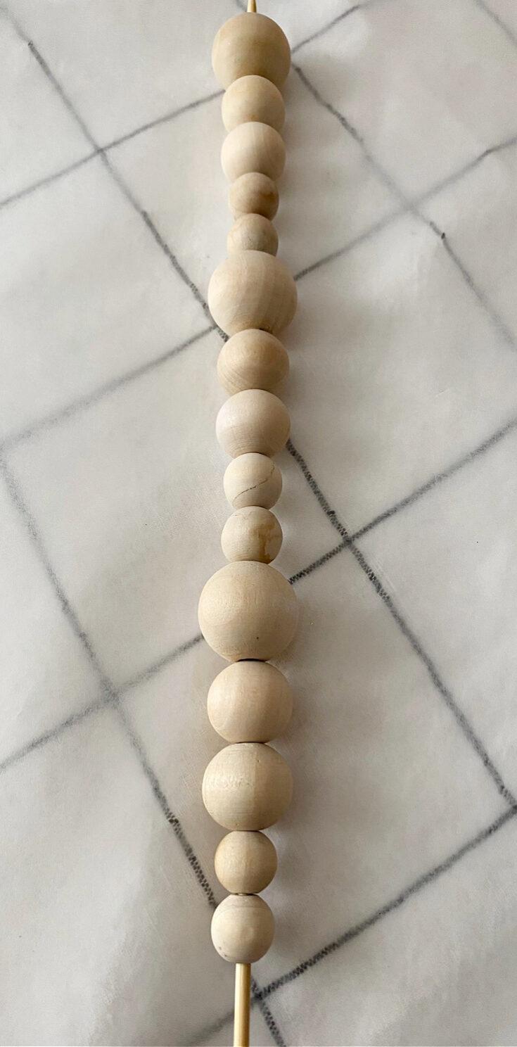 wood beads on skewar