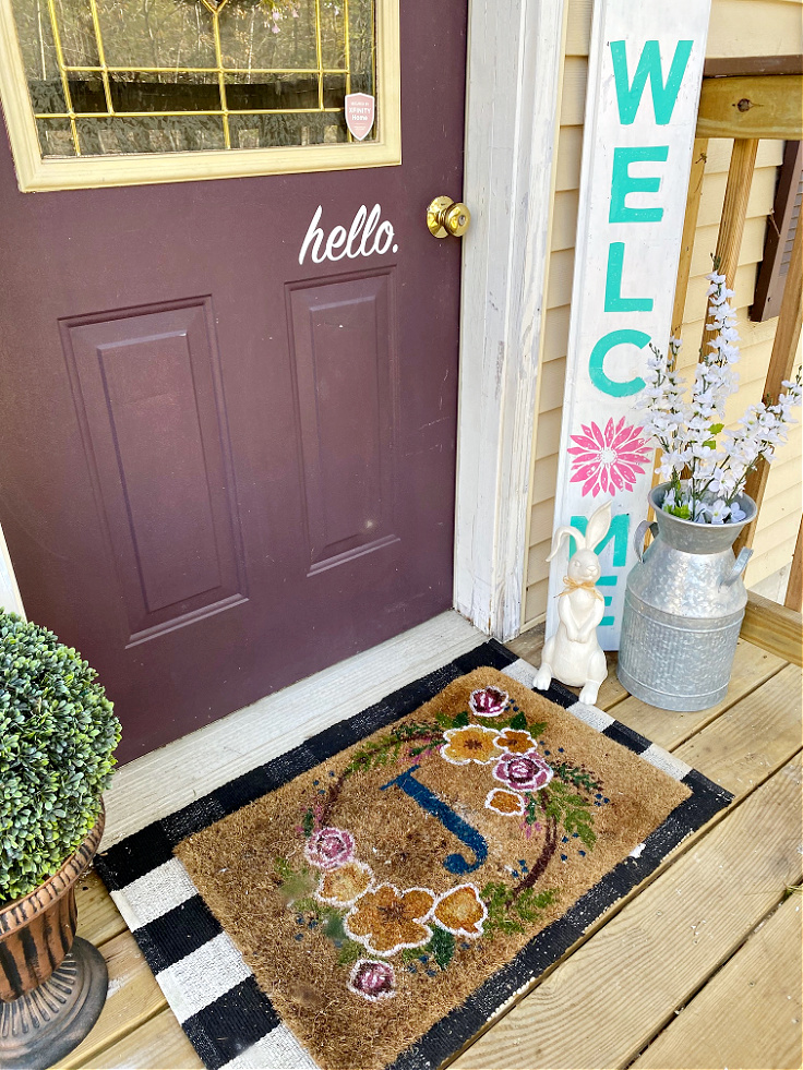 How To Style A Small Front Porch For Early Spring