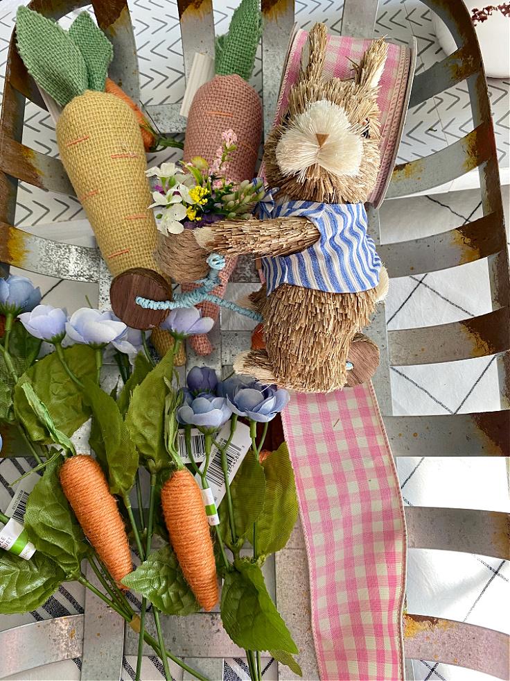 supplies for tobacco basket spring wreath