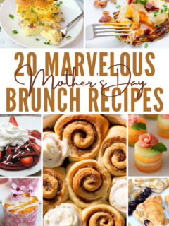 mother's day brunch recipes pin image with text overlay
