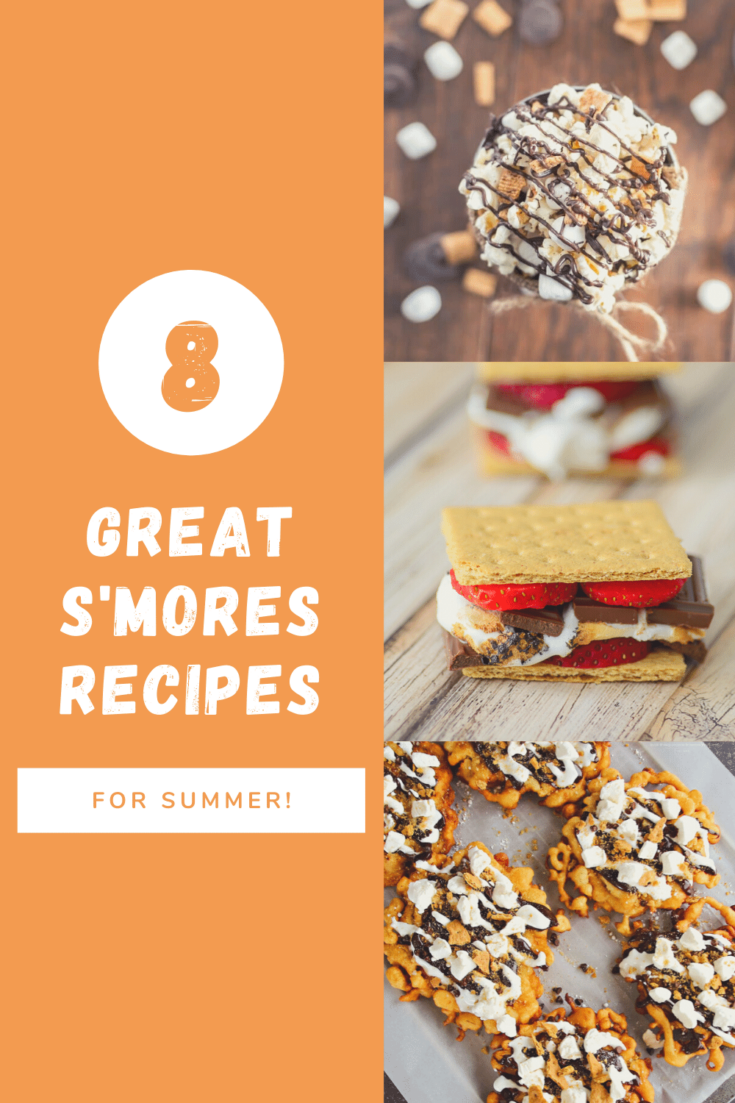 S'mores recipes pin image with text overlay