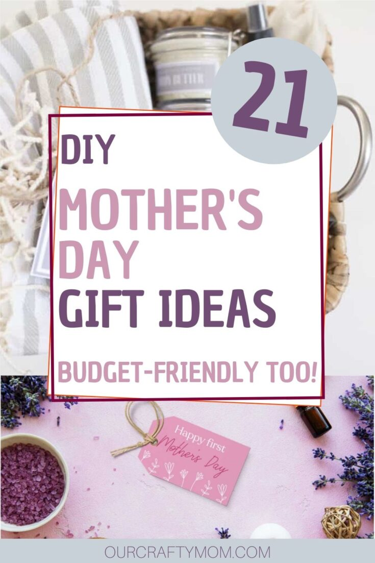 diy mother's day gifts collage with text overlay